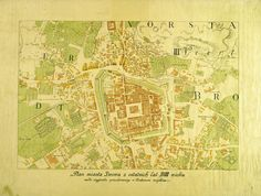 Plan of the City of Lwów from the Final Years of the 18th Century