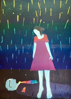 Tom Hammick ~ Shooting Stars I your Hair, 2016, reduction woodcut, 64 5/8 x 43 1/8 inches, edition EV 4/10