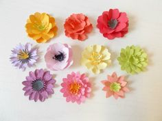 Plantable Paper Flowers- Set of 12 Eco Friendly Seeded Paper Favors - Your Choice of Flower and Color