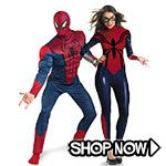 Spiderman Couple Costumes - All Couple Costumes via TrendyHalloween.com #trendyhalloween #halloween #halloweencostumes #costumes #spiderman