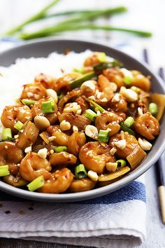 Easy homemade Kung Pao Shrimp you can whip up in less than 30 minutes – so much healthier than takeout and bursting with spicy, savory Asian flavor!