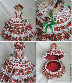 Купить Кукла шкатулка - кукла, кукла интерьерная, подарок, ручная работа, шкатулка, лён