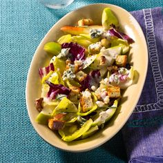 Endive, Pear, and Blue Cheese Salad: This unique, savory dish offers a healthy dose of vitamins and good fats. Perfect for a heart-healthy diet!