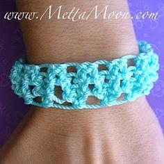 MettaMoon Macramé Sky Blue Bracelet $12