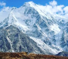 Mountains are our big brothers & sisters. Mighty Langshisha Ri (6100 m), seen from Morimoto BC at 4600 m, Langtang in October 2015.  #mountopia #mountains #nepal #wild #wilderness #outdoors