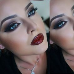 .Fall sultry makeup