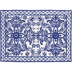 Thos. Baker Spanish Tile Rug (Blue) (135 AUD) ❤ liked on Polyvore featuring home, rugs, blue area rugs, blue rugs and spanish rugs