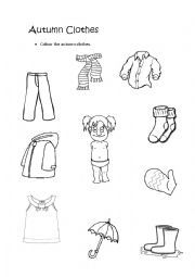 Spring Clothing Colouring Page Kid's Spring Coloring Pinterest