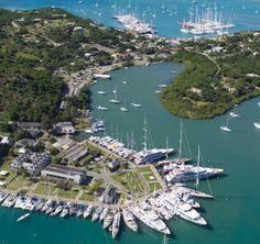 Aerial photo of Nelson's Dockyard today - the only working Georgian dockyard in the world.  Antigua & Barbuda