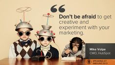Don't be afraid to get creative and experiment with your marketing. I love this guy. Marketing Professional, Small Business Marketing, Inbound Marketing, Marketing And Advertising, Social Media Marketing, Digital Marketing, Seo Services Company, Best Seo Services, Experiment