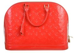 Louis Vuitton Grenedine Vernis Alma MM Handbag