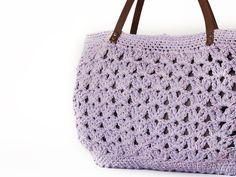 Lilac summer shoulder bag hand bag With Genuine by Sudrishta, $60.00
