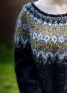 Icelandic Sweaters, Wool Sweaters, Fair Isle Knitting, Free Knitting, Crochet Woman, Knit Crochet, Nordic Sweater, Linen Stitch, Sweater Knitting Patterns