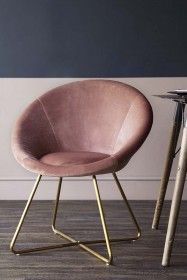 The Grand Velvet Circular Chair - Rose Pink from Rockett St George Rockett St George Wooden Dining Chairs, Metal Chairs, Cool Chairs, Black Kitchen Chairs, Dressing Table With Chair, Round Chair, Swinging Chair, Vintage Chairs, Upholstered Chairs