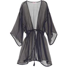 CALYPSO St. Barth Norta Silk Cover-up ($29) ❤ liked on Polyvore featuring lingerie, outerwear, robes, jackets and calypso st. barth