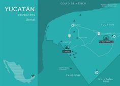 Mapa Yucatán (México)