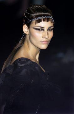 John Galliano at Paris Fashion Week Spring 2002.