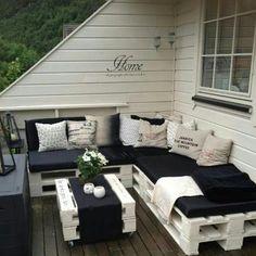 on a terrace