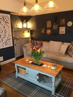 An inspirational image from Farrow & Ball. Living Room Designs, Living Room Decor, Living Rooms, Copper Living Room, Room Interior Design, Interior Ideas, Lounge Decor, Bedroom Green, Blue Rooms