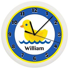 Rubber Duck Bathroom Wall Clock by cabgodfrey on Etsy, $15.99