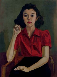 """Roberta Johnson Roensch"", 1943-46 by Alice Neel"