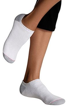 Hanes Womens Athletic NoShow Socks Shoe Sizes 6Pack_White_812 * Visit the image link more details.
