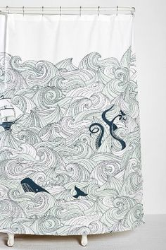 octopus shower curtain urban outfitters 1000 ideas about nautical shower curtains on 140