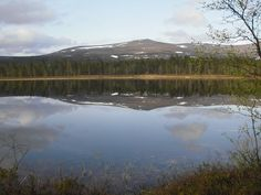 Reflection in the Water in Lapland.