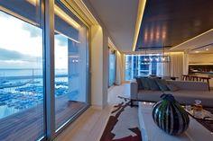 ღღ This sleek and stylish penthouse is located in Tel Aviv, Israel. It overlooks the Mediterranean Sea, a view that is both spectacular and relaxing.
