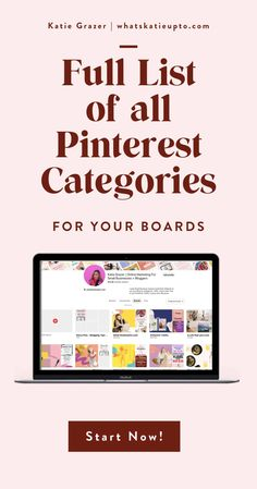 Pinterest Categories are actually relevant for the Pinterest Algorithm and can help you grow your Blog Subscriber and grow your Blog Traffic. This is an easy hack and great blogging tips you can implement today to make your Pinterest category and Pinterest Boards rank higher. Give Pinterest the information they need to understand your pins. #pinterestmarketing #pinterestips #pinterestalgorithm #bloggingtips Small Business Marketing, Online Business, Pinterest Categories, Pinterest For Business, Pinterest Marketing, Helping People, Online Marketing, Organizing, Organization