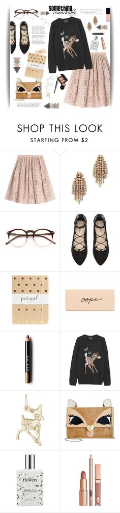 """""""Something Remarkable"""" by cara-mia-mon-cher ❤ liked on Polyvore featuring Burberry, Elizabeth Cole, Wildfox, Sugar Paper, Bobbi Brown Cosmetics, Markus Lupfer, Rembrandt Charms, Betsey Johnson, philosophy and Laura Mercier"""