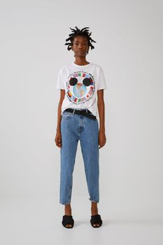 ZARA - Female - ©disney mickey mouse shirt - Off-white - S Mickey Mouse T-shirt, Mickey Mouse Sweatshirt, Zara Home Stores, Zara United Kingdom, Disney Outfits, Disney Clothes, Zara Women, T Shirts For Women, Female