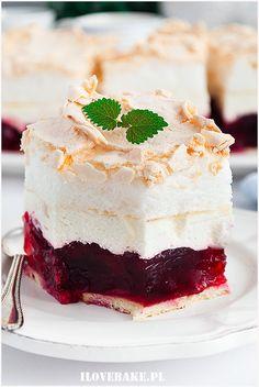 Wiśniowa chmurka - I Love Bake Tortellini, Delish, Cheesecake, Cooking Recipes, Diet, Food, Polish Language, Kitchens, Cakes