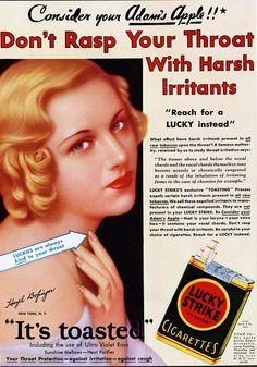 cigarette Lucky Strike advertising
