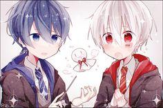 Soraru and Mafumafu Chibi Boy, Kawaii Chibi, Cute Anime Boy, Anime Guys, Vocaloid, Neko Cat, Fanart, Anime Child, Natsume Yuujinchou
