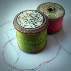 vintage thread D269 Chartreuse
