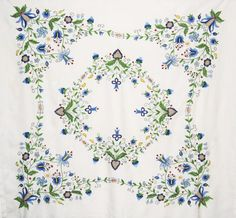 Image detail for -Embroidered Folk Art Scandinavian Tablecloth at Classy Option ...