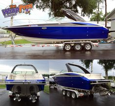 Cosmic Blue & Black Color Change Boat   The WrapPros @ BB Graphics   bbgraphics.com   #bbgraphics #3MCertified #thewrappros