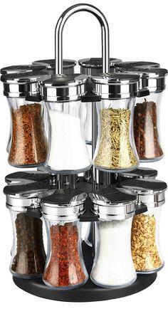 Spice Jars and Racks 20646: Home Basics 16 Piece Revolving Spice Rack Black -> BUY IT NOW ONLY: $32.99 on eBay!