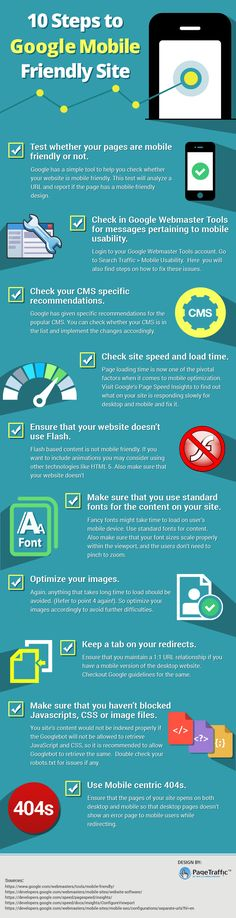 Want to make your website mobile friendly and confused how to do it? Well, we have an answer to your problem. Check out this infographic to find steps for making your website mobile friendly like test whether your pages are mobile friendly or not, check in google webmaster tools for messages pertaining to mobile usability, check your CMS specific recommendations and much more.