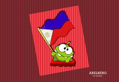 OmNom (Cut the Rope Game) Vector Art by Are Lorenz Bergonia, via Behance