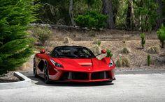 Download wallpapers Ferrari LaFerrari, supercar, red LaFerrari, sports italian cars, Ferrari