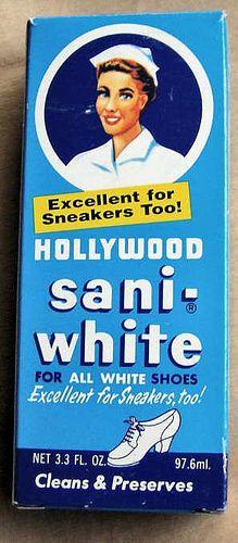 Sani-White ~ my mom was a nurse & used this stinky stuff
