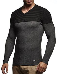 bd6bea74b2492f Amazon LEIF NELSON Herren Pullover Hoodie Strickpullover Kapuzenpullover  Sweatshirt Longsleeve Sweater LN5310  Größe S