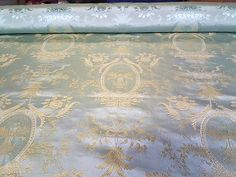 SCALAMANDRE NEOCLASSICAL SILK JACQUARD LAMPAS UPHOLSTERY FABRIC BTY