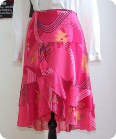 MEXX Romantischer Damen Rock 38 Skirt Boho Blumen Wasserfall Pink Hippie Blumen in Kleidung & Accessoires, Damenmode, Röcke | eBay