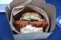 Birds & Bubbles: Nashville Hot Chicken Biscuit