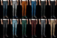 [My old cc reupload part 2] AM and TM clothes. All mesh is included. Kayleigh Bustelo recolors (TM mesh by Trapping) Download AM (Bottom with cardigan is AM only) Download TM Yuxi SkinnyJeans+Creeper...