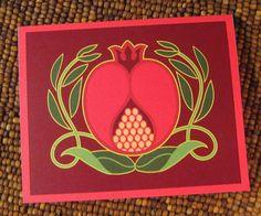 My pomegranate card illustration.