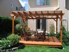 55 Stunning DIY Pergola Design Ideas And Remodel For Your Summer - Abantiades Decor Small Gazebo, Gazebo On Deck, Wooden Gazebo, Patio Pergola, Pergola Plans, Deck Plans, Backyard Plants, Small Backyard Patio, Modern Pergola Designs